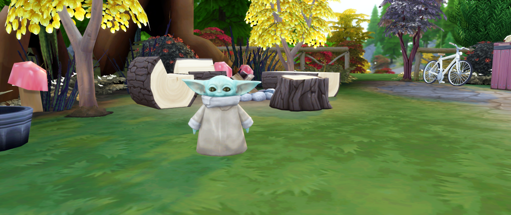 Baby Yoda w The Sims 4!